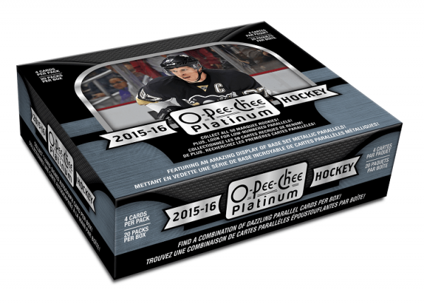2015-16 Upper Deck O-Pee-Chee Platinum Hockey Hobby Box