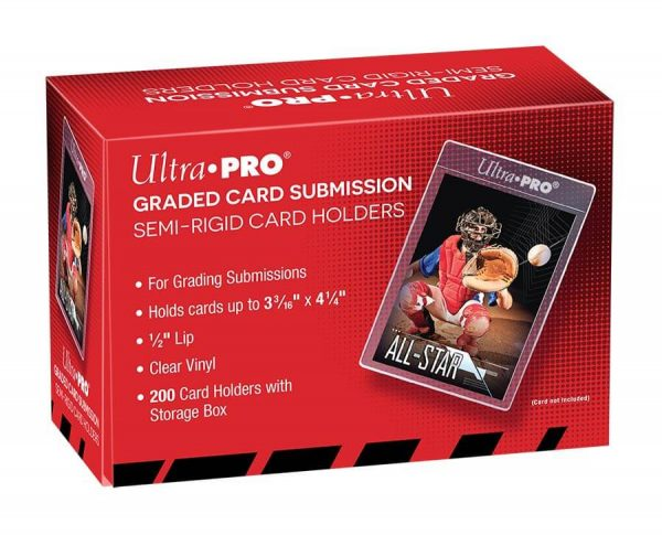 Ultra Pro Graded Card Submission, Semi-Rigid Card Holders - 200 card holders with Storage Box