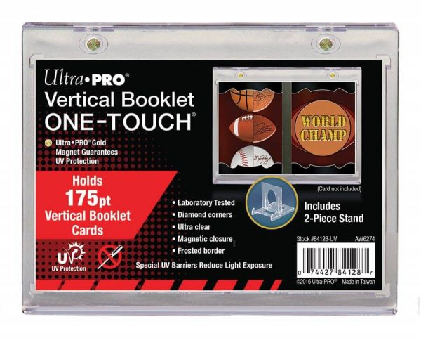Ultra Pro One-Touch Vertical Booklet - Holds 175pt cards - With 2-piece stand