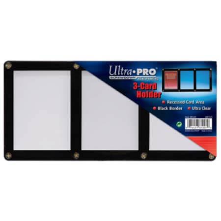 Ultra Pro 3-Card Black Frame Screwdown Holder