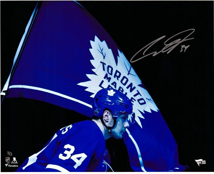 check out 77b82 f83df Auston Matthews Maple Leafs Fanatics Autographed 16 x 20 Flag Photograph /3