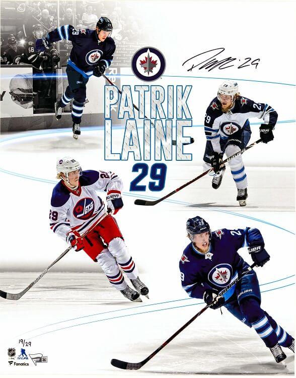 Patrick Laine Autographed Print