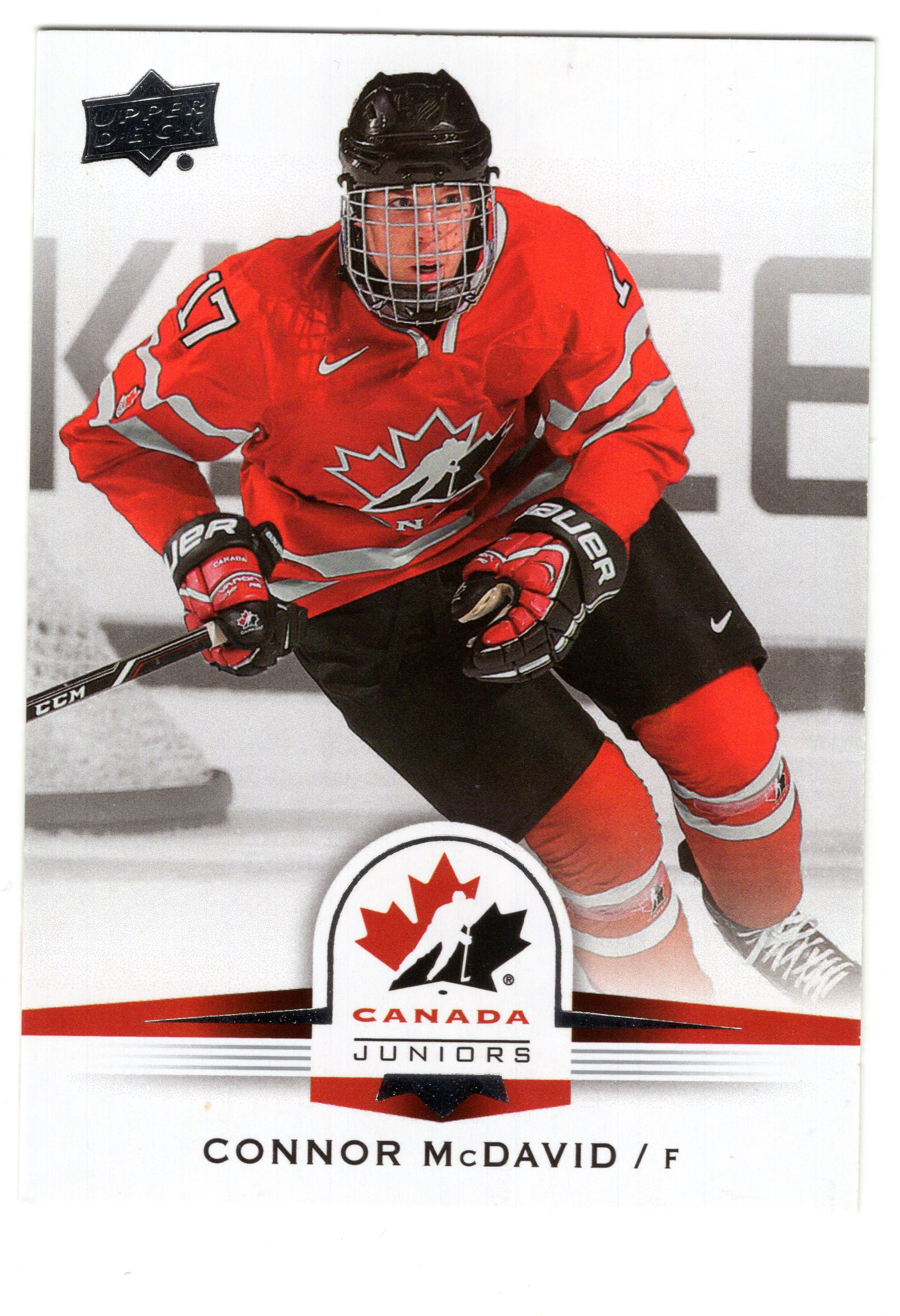 the latest c388d 7c797 14-15 Upper Deck Team Canada World Juniors Base Connor McDavid #110