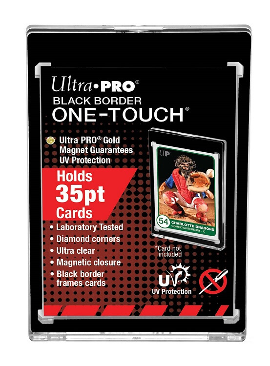 Ultra Pro Black Border One-Touch - Holds 35pt cards