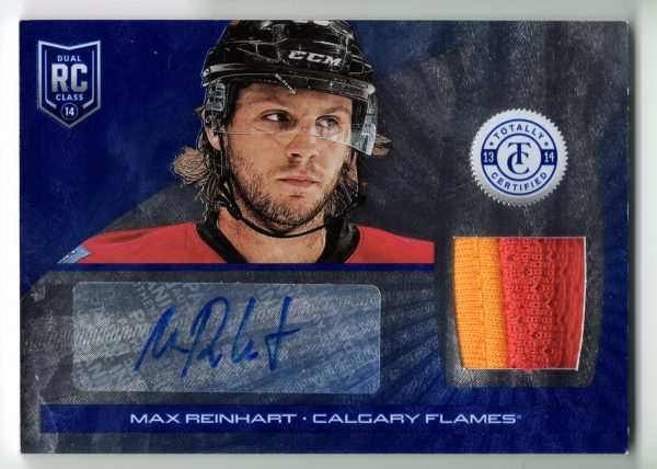 13-14 Panini Totally Certified Platinum Blue Prime Jersey/Auto Rookie Max Reinhart 1/25 #164