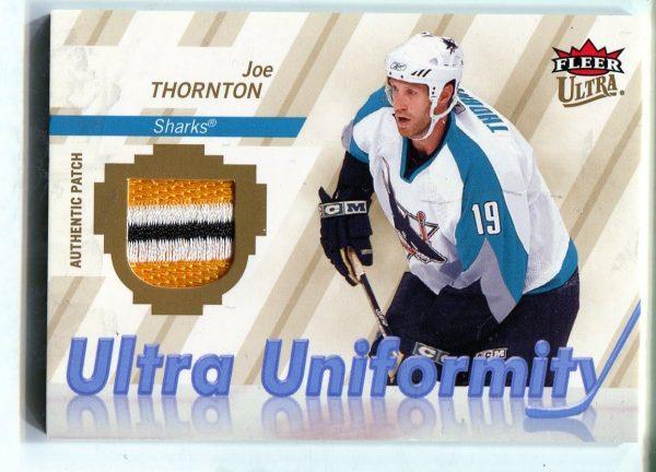 07-08 Upper Deck Fleer Ultra Uniformity Patch Joe Thornton 20/25 U-JT