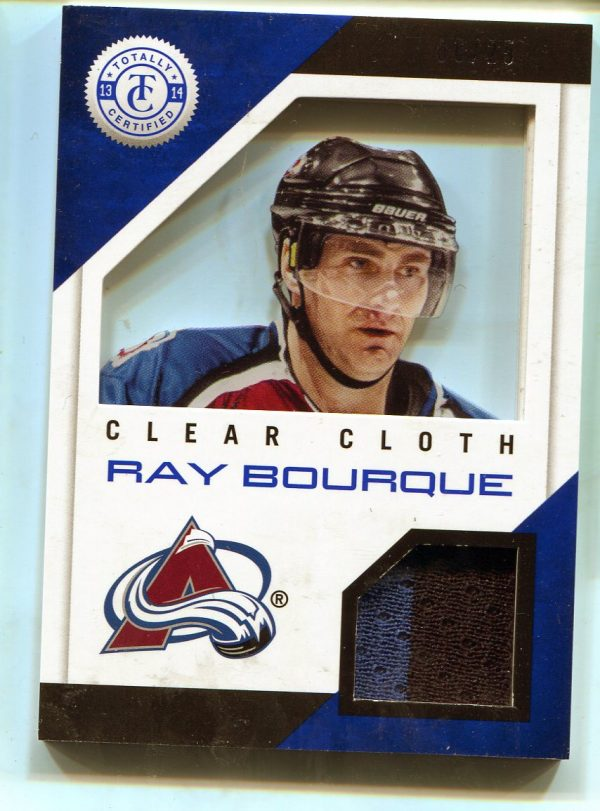 13-14 Panini Totally Certified Clear Cloth Blue Prime Jersey Ray Bourque 6/25 CL-RB