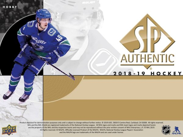 2018-19 Upper Deck SP Authentic Hockey Hobby
