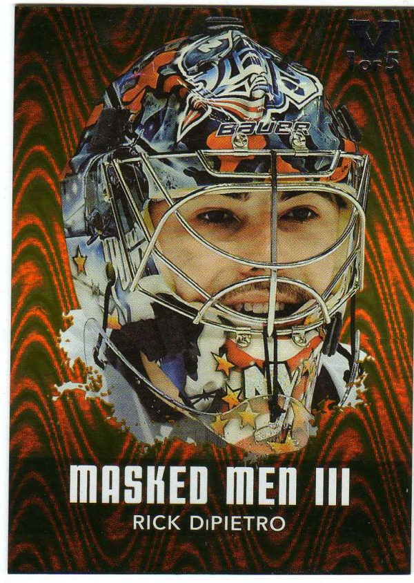 15-16 ITG Vault 10-11 Between The Pipes Masked Men Rick DiPietro /5 MM-43