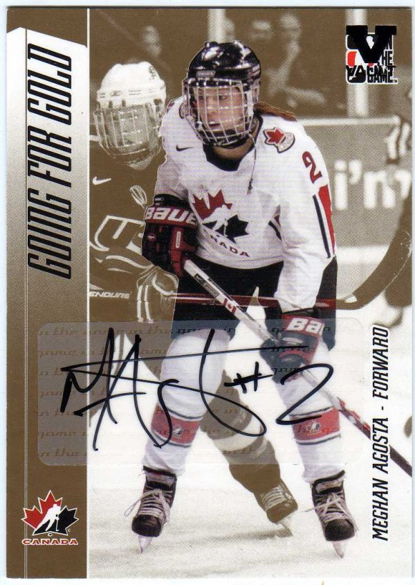 15-16 ITG Vault 06-07 Going For Gold Series Auto Meghan Agosta A-A