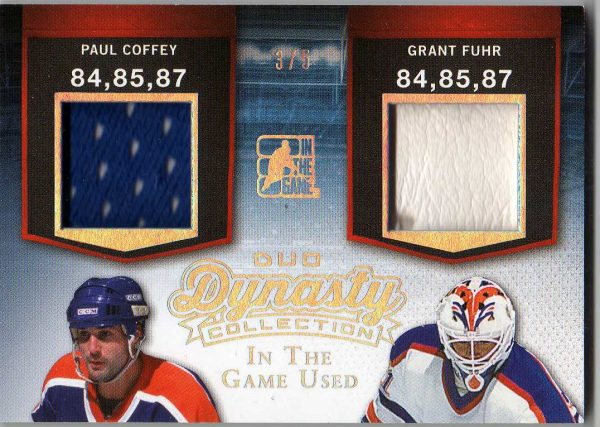14-15 ITG Used Duo Dynasty Dual Jersey Paul Coffey/Grant Fuhr 3/5 DCD-10