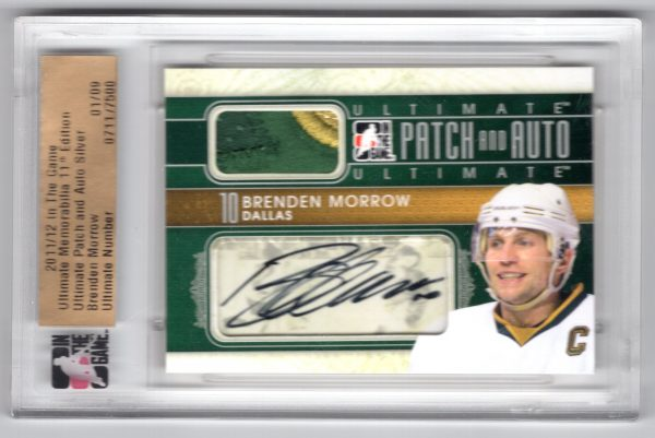 11-12 In The Game Ultimate 11th Edition Ultimate Patch and Auto Silver Brenden Morrow 1/9