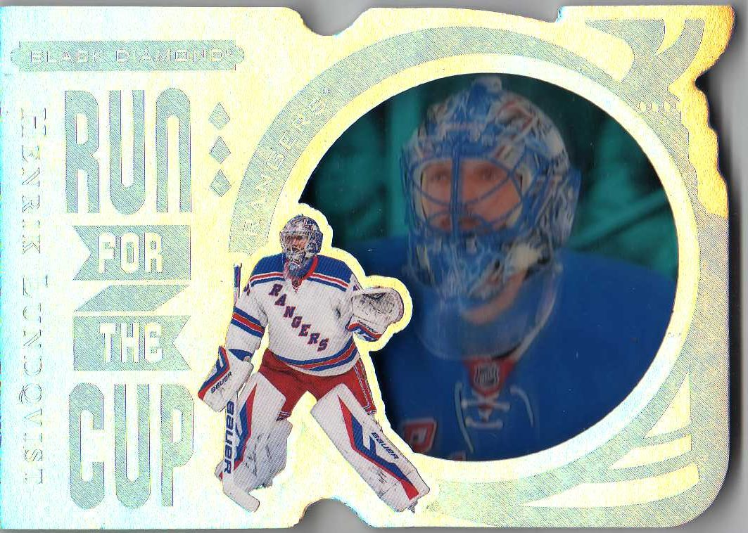 16 17 Upper Deck Black Diamond Run For The Cup Henrik Lundqvist Run