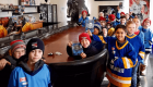 National Hockey Card Day 2019 kids group photo