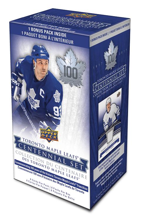 2017-18 UD Toronto Maple Leaf Centennial Hockey Blaster Box