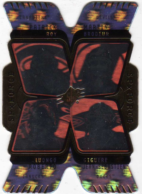 07-08 Upper Deck SPx Force Quad Hologram Roy/Broduer/Luongo/Giguere F2