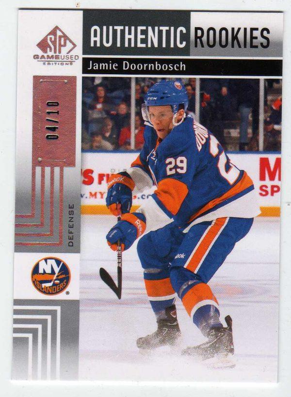 11-12 Upper Deck SP Authentic Rookies Jamie Doornbosch 4/10 #148