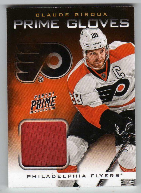 12-13 Panini Prime Gloves Claude Giroux 7/25 #3
