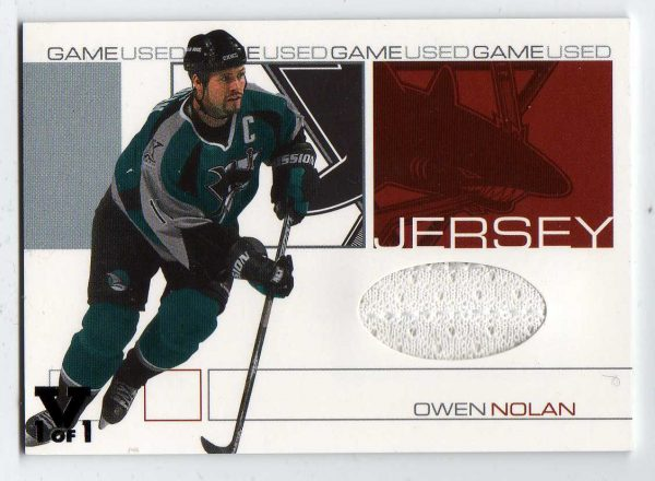 2015-16 ITG Final Vault 01-02 BAP Signature Series Jersey Own Nolan 1/1 GJ-55