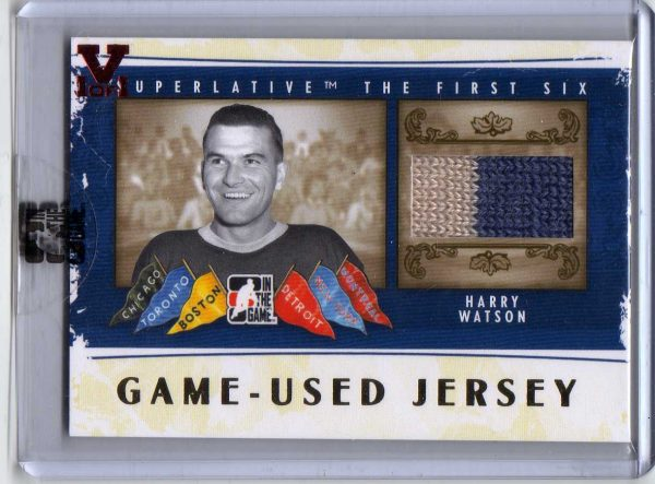 2015-16 ITG Final Vault Superlative The First Six Jersey Harry Watson 1/1