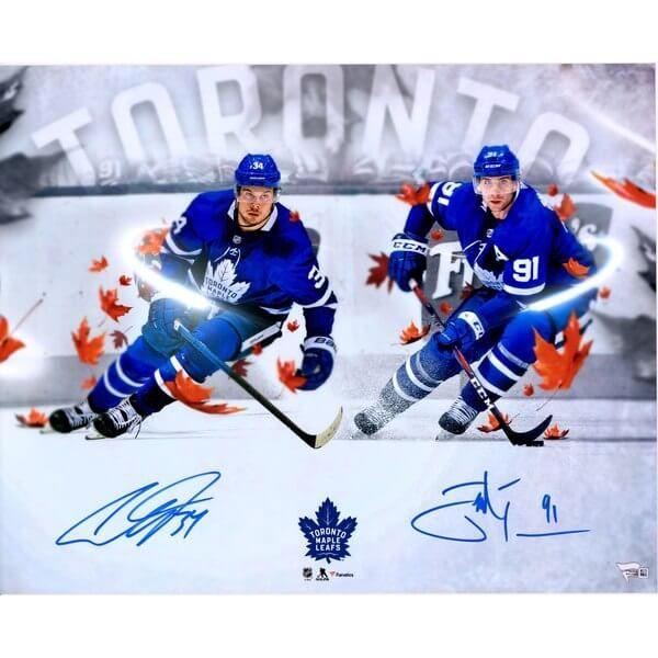 "John Tavares & Auston Matthews Toronto Maple Leafs Autographed 16"" x 20"" Stylized Photograph - Limited Edition of 125"