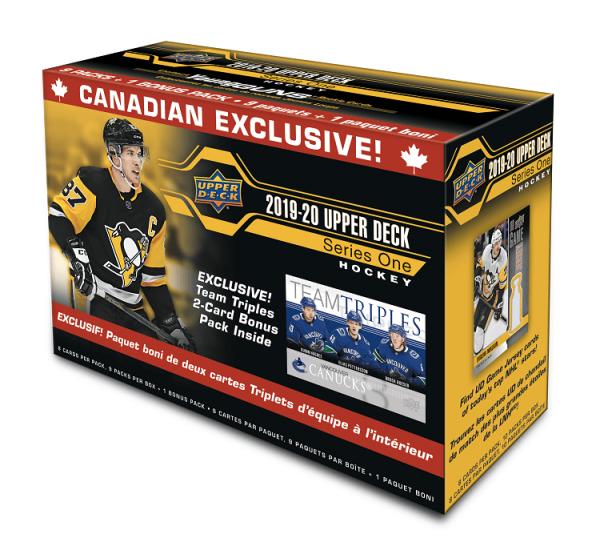 2019-20 Upper Deck Series 1 Hockey Team Triple Blaster Box