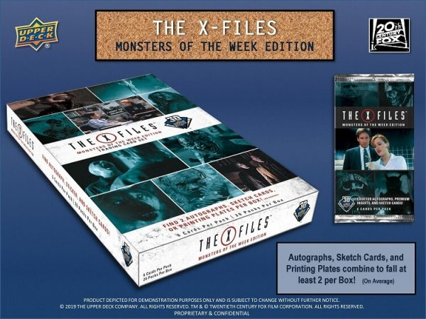 2019 UD X-Files Monster of The Week Trading Cards Hobby Box