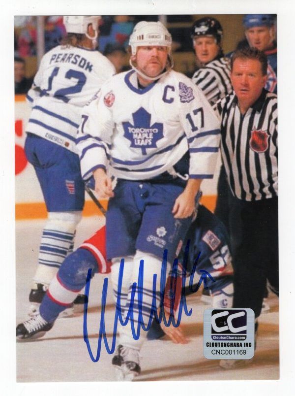 Wendel Clark Autographed 5.125 x 7.125 Toronto Maple Leafs Photo