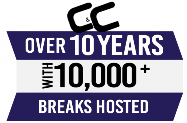 C&C Over 10 Years with 10,000+ Breaks Hosted