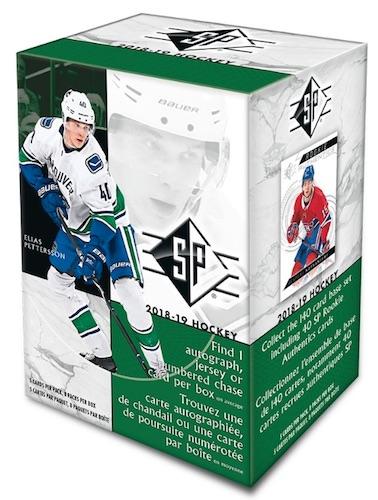 2018-19 Upper Deck SP Hockey Blaster Box