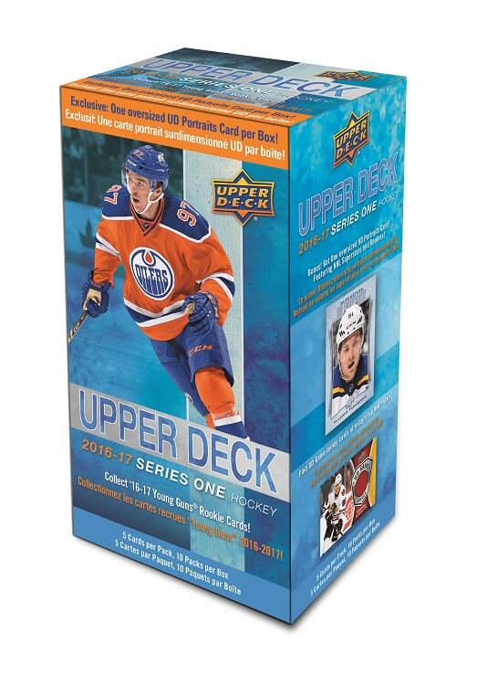 2016-17 Upper Deck Series 1 Hockey Blaster Box With Oversized Portraits