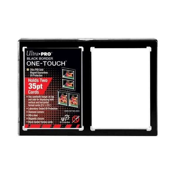 Ultra Pro 35pt 2-Card Black Border One Touch Magnetic Closure