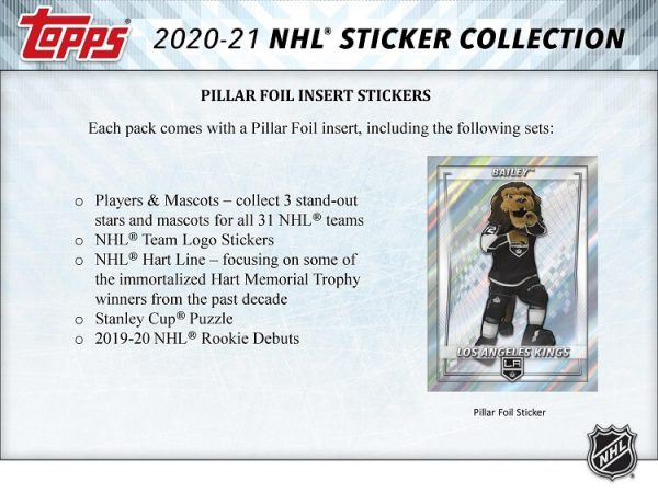 20-21 Topps NHL Stickers