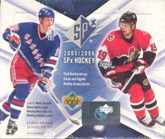2005-06 Upper Deck SPx Hockey Box