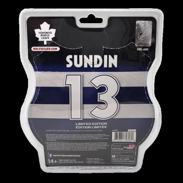 "2020-21 PSA Mats Sundin Toronto Maple Leafs 6"" Action Figure - Back packaging"