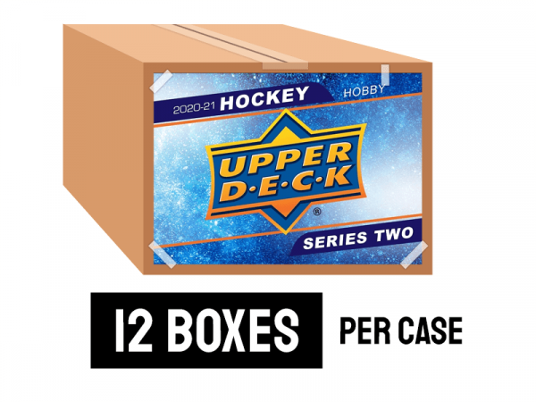 2020-21 Upper Deck Series 2 Hockey Hobby Case (12 Boxes)