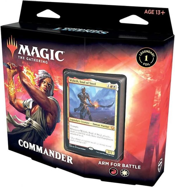 Magic The Gathering Commander Legends Deck Box - Arm For Battle