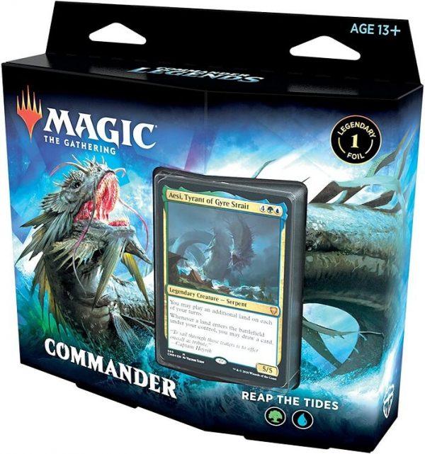 Magic The Gathering Commander Legends Deck Box - Reap The Tides