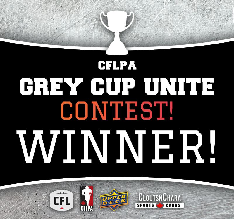 CFLPA Grey Cup Unite Contest - Winner!