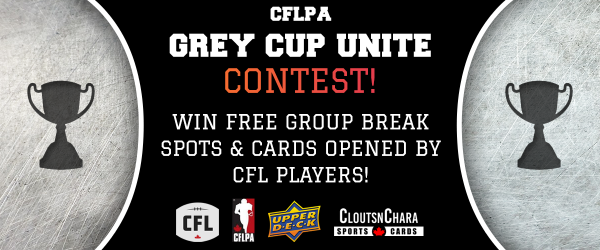 CFLA Grey Cup Unite Contest! - Win free group break spots and cards opened by CFL players!