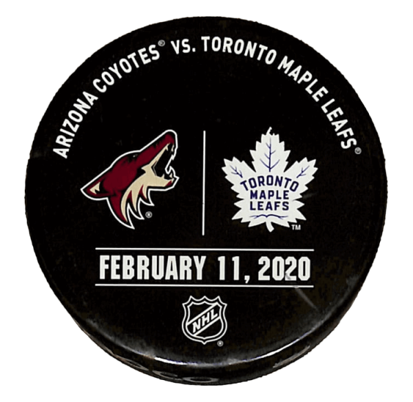 Coyotes vs Leafs Puck - February 11, 2020