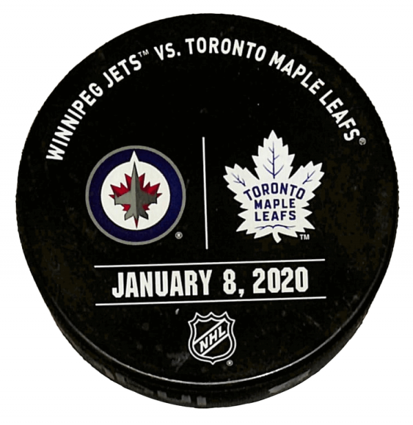 Jets vs Leafs Puck - January 8, 2020