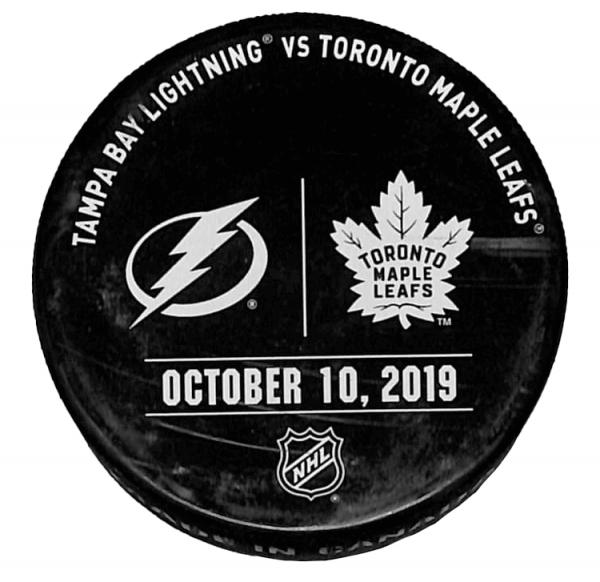 Lightning vs Leafs Puck - October 10, 2019