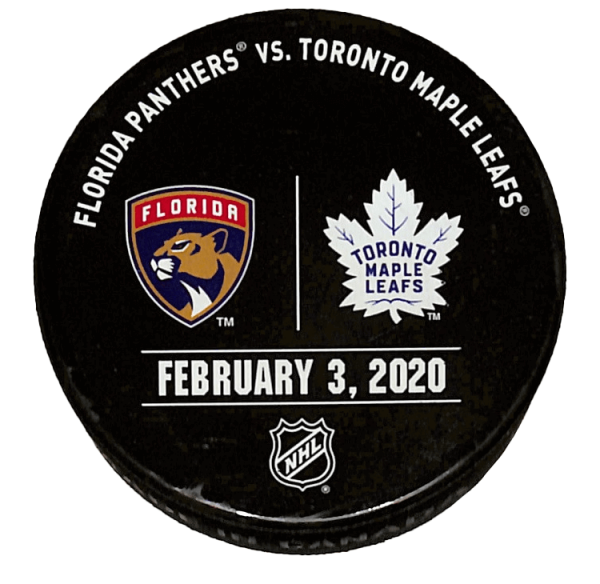 Panthers vs Leafs Puck - February 3, 2020