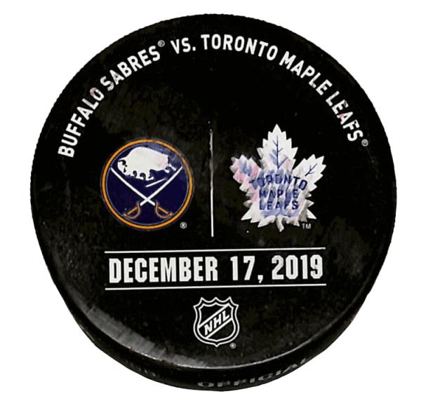 Sabres vs Leafs Puck - December 17, 2019