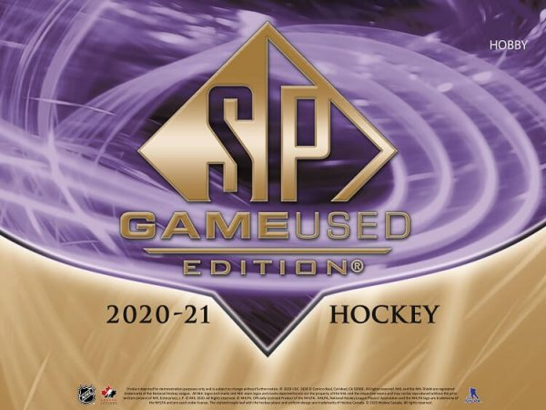 2020-21 Upper Deck SP Game Used Hockey Hobby Box