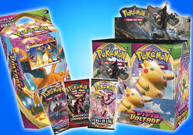 Pokemon boxes, packs, starter kits, and more!