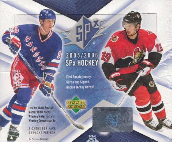 2005-06 Upper Deck SPx Hockey Hobby Box