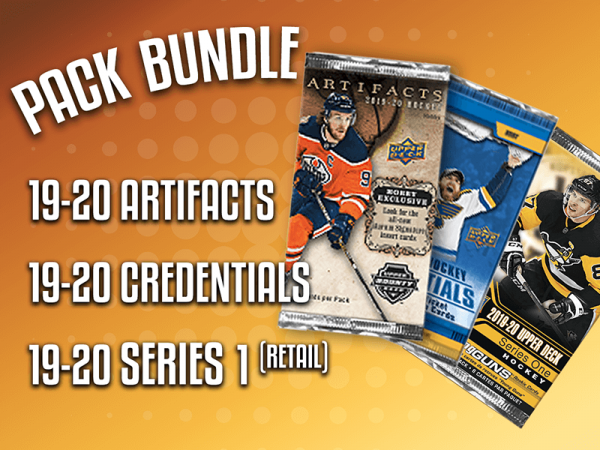 Pack Bundle - 19-20 UD S1 Retail, 19-20 UD Artifacts & 19-20 UD Credentials Hockey Packs