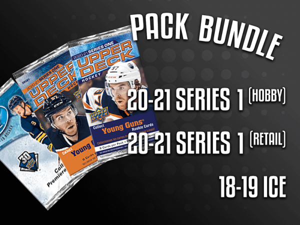 Pack Bundle - 20-21 UD Series 1 Hobby, 20-21 UD Series 1 Retail & 18-19 UD Ice Hockey
